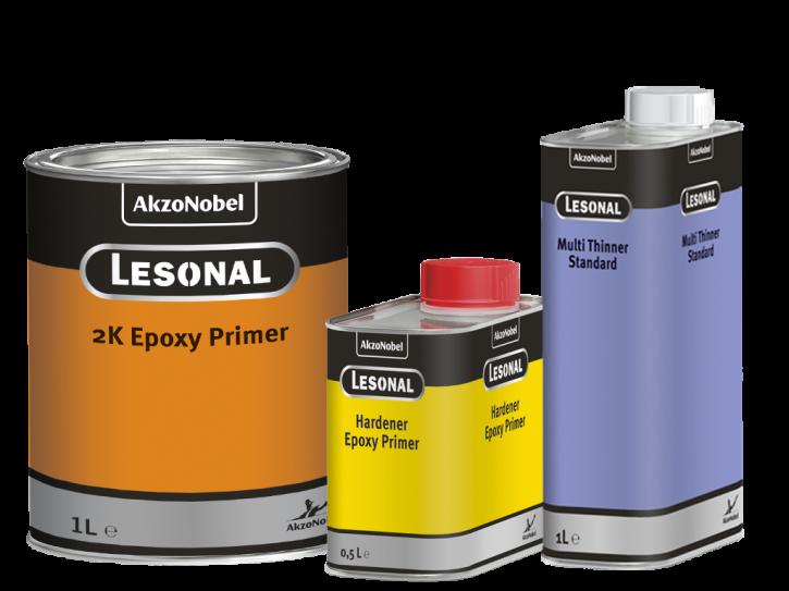 Lesonal Epoxy Primer 1 Ltr. + Härter 0,5 Ltr. + Thinner 1 Ltr.