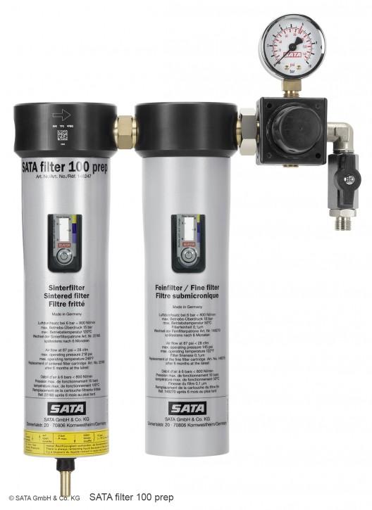 SATA® filter 100 prep™ 2-stufiger Filter