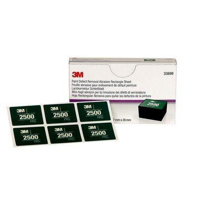 3M™ 264L Lackkorrektur Handschleifsystem Schleifblüten rechteckig 37x28mm P2500