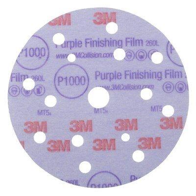 3M 260L+ Hookit Purple Ø150mm 16-Loch P600 Abverkauf