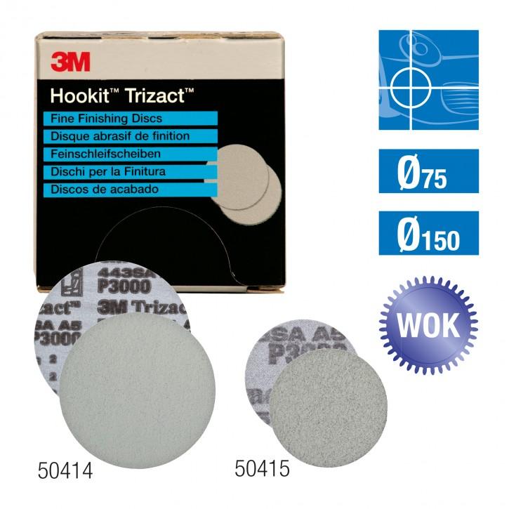 15Stk. 3M™Trizact™ Fine Finishing Schleifscheiben 443SA 50415 Ø75mm