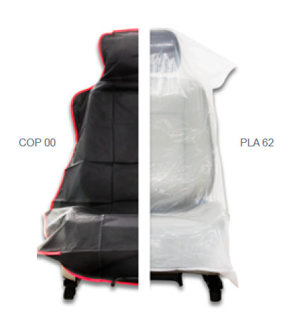 Finixa Sitzüberzüge 12µm / 250Stk. auf Rolle (820 x 1300 x 500mm)