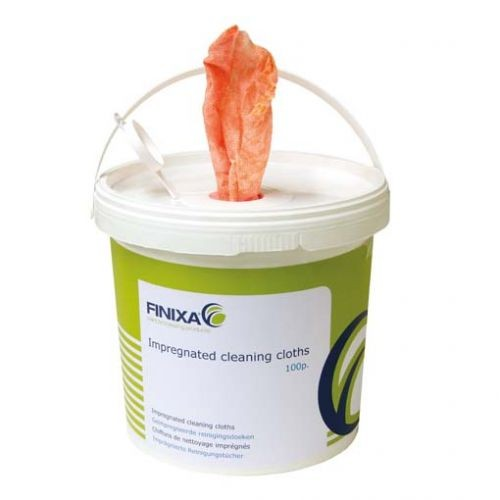 Finixa - Scrubs imprägnierte Reinigungstücher im Eimer (100 Tücher)