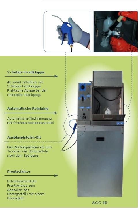 Finixa AGC40 Automatisches Pistolen-Waschgerät