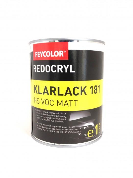 Feycolor Redocryl HS 181 VOC 2K Mattklarlack 1.0 Ltr.