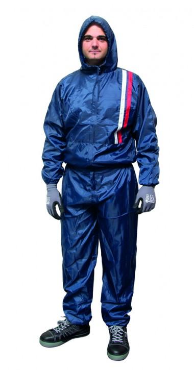 Finixa Gr. M NSC08 Polyester Lackieroverall blau-grau