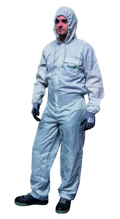 Finixa Gr. M SOG08 Polyester Lackieroverall grau
